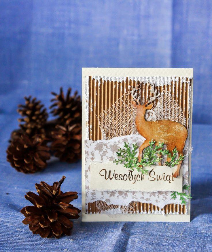 kartka świąteczna #scrapbooking christmas card