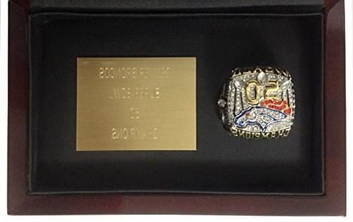 Denver Broncos 2016 Super Bowl Ring - Exquisite Von Miller Replica - Comes with Cherry Wood Display Case and Plaque - Collect or Gift