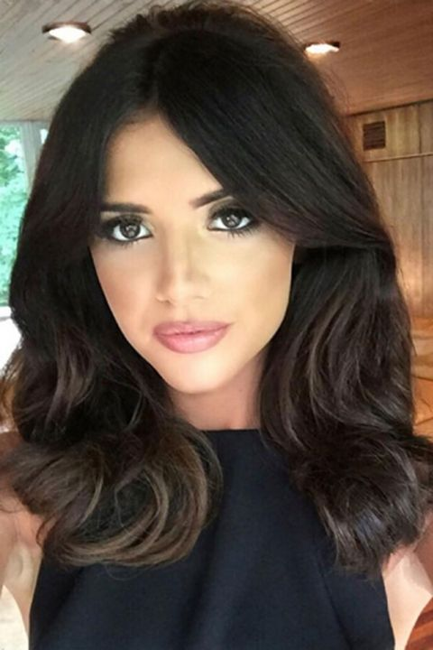 Lucy Mecklenburgh Works Chest-Length Hair Extensions, 2015