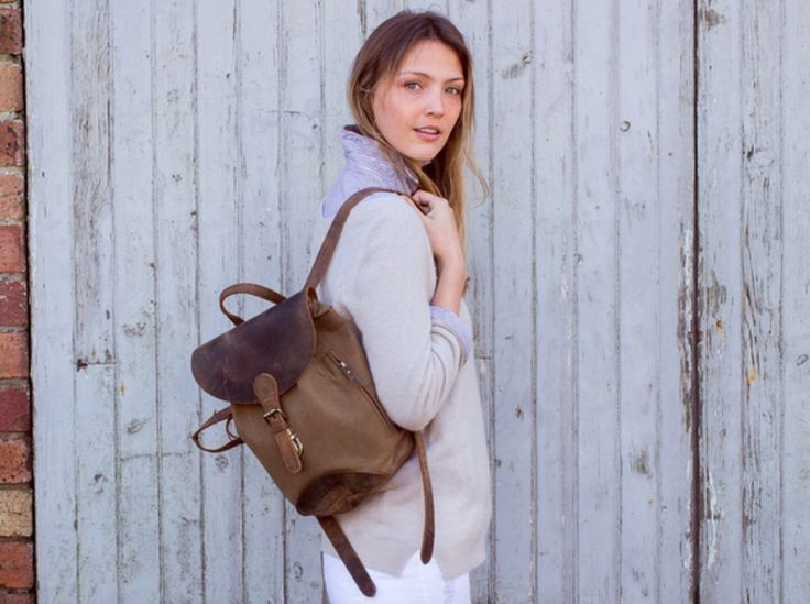 Let our women's leather and canvas backpack take you from weekends away to the stylish festival season. #backpack #vintage #canvas #leather #giftsforher
