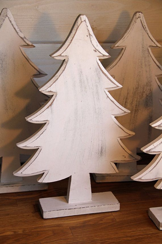 Wood Christmas / Pine Tree Painted and by FooFooLaLaChild on Etsy, $39.00