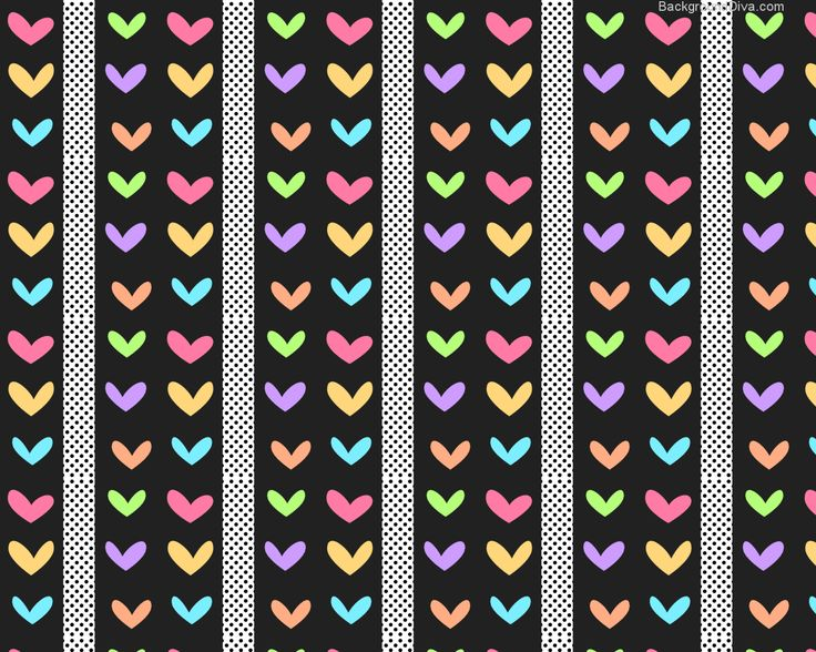 Colorful Polka Dot Backgrounds | Polka Dots Hearts And Tiny Black Desktop Background With Wallpaper ...