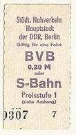 S-Bahn Fahrkarte