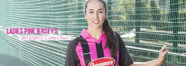 O'Neills ladies pink jerseys - perfect for training.