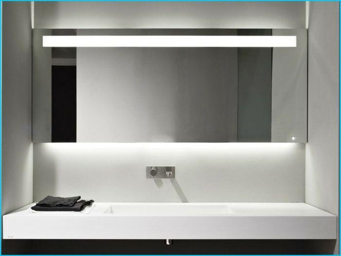Inspirational Badezimmer Spiegel Beleuchtung viereck modern zentriert