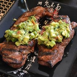 Mexican Steak with Avacado Salsa.... THIS IS MY PHOTO ON allrecipes.com!!! :)