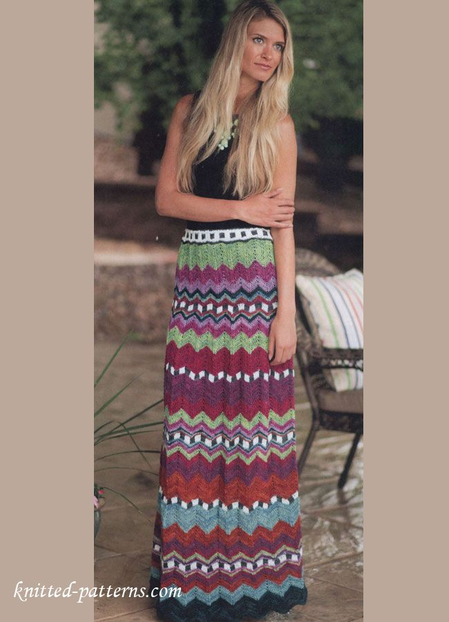 Knit Maxi Skirt Missoni - free pattern