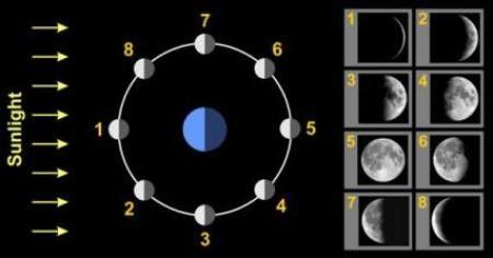 Legwerkje over de maanstanden - Montessorinet