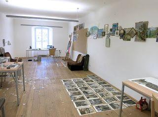 Estudio de Julio Falagán en el Estudio del Centro Atelierhaus Salzamt de Linz. Programa Creart.