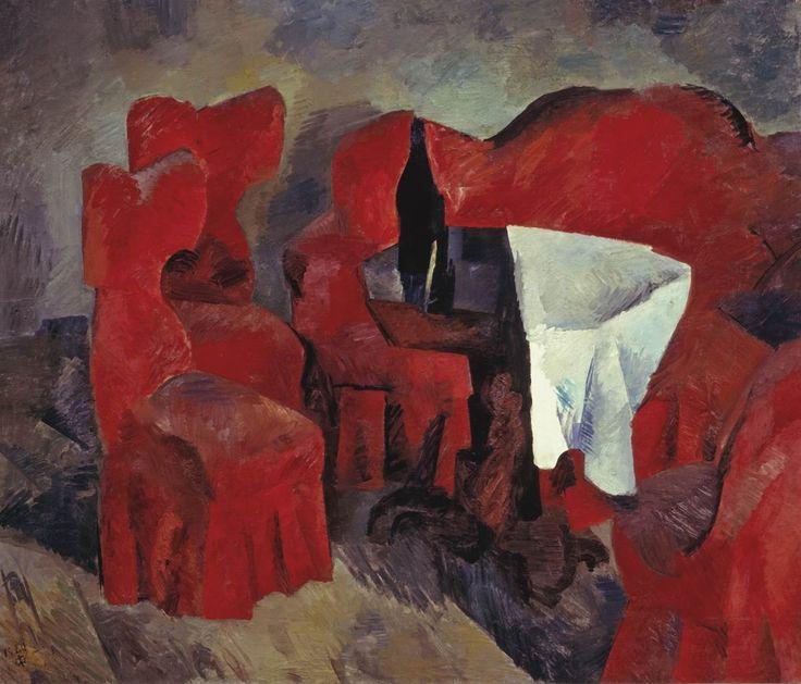 Р. Фальк. Красная мебель. 1920. ГТГ