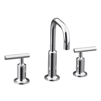KOHLER - Purist Widespread Lavatory Faucet In Polished Chrome - K-14406-4-CP - Home Depot Canada. $515.63. Pair with Purist shower kit. Also available with cross handles if you prefer that styling.
