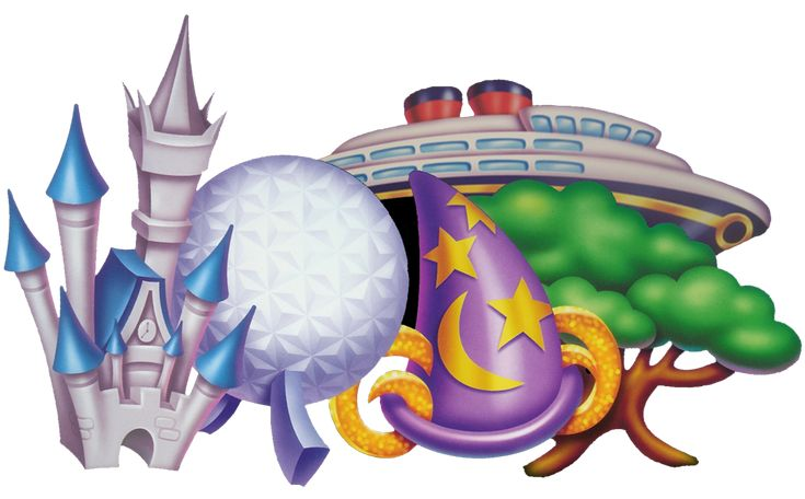 Cute Drawing Of Disney World Parks And The Disney Cruise