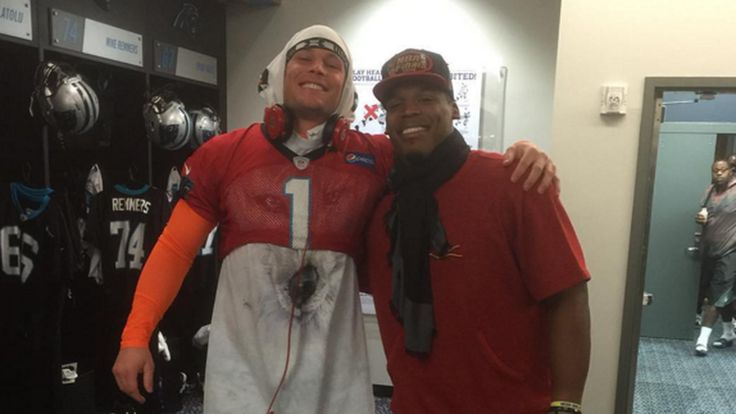 That time Luke Kuechly dressed up as Cam Newton for Halloween.