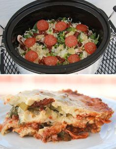 Gluten-Free Crockpot Pizza | 27 Delicious Low-Carb Dinners To Make In A Slow Cooker