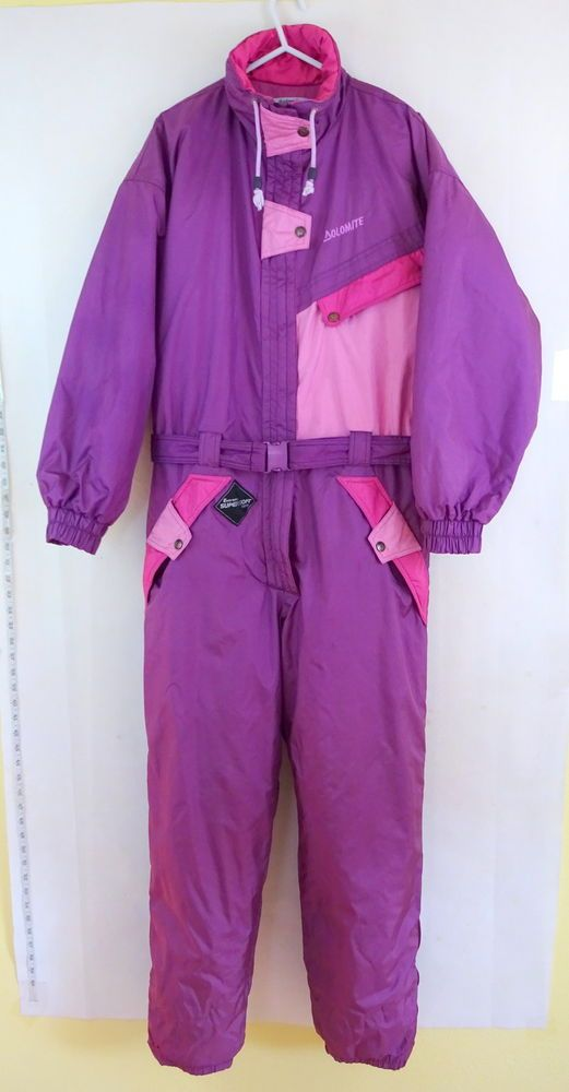 DOLOMITE Vintage 1980's SkiSuit size Medium Adult Ski Onesie Womens DUCK DOWN in Sporting Goods, Skiing & Snowboarding, Clothing, Hats & Gloves | eBay