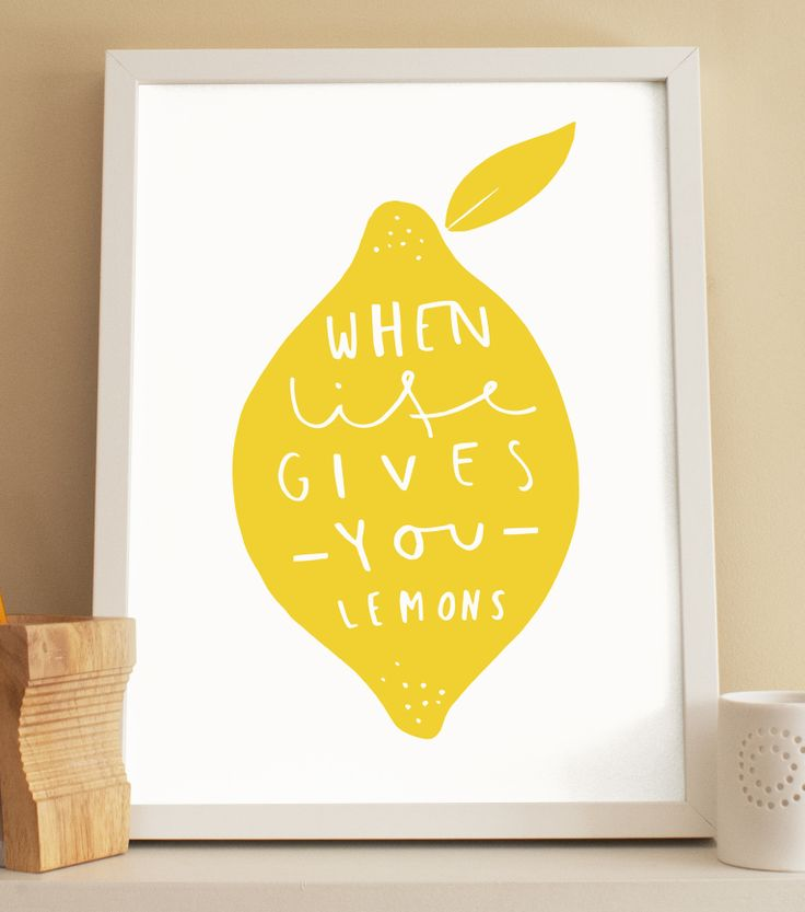 When life gives you lemons, make lemonade! Lemon print