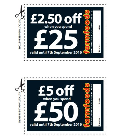 Farm Foods Money Off Vouchers Uk