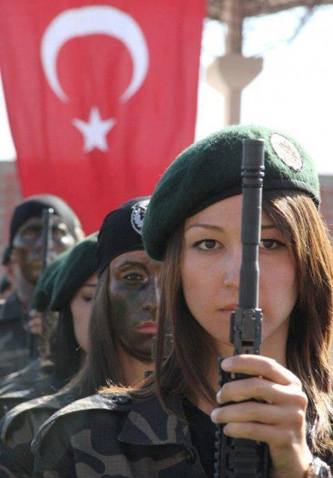 Turkish Police Special Operations members at their graduation ceremony.