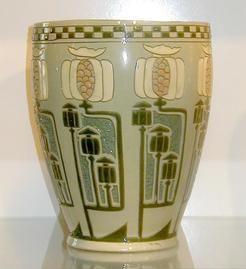 roseville della robbia | pottery & porcelain, Ohio, A Roseville [Pottery] Della Robbia vase ...