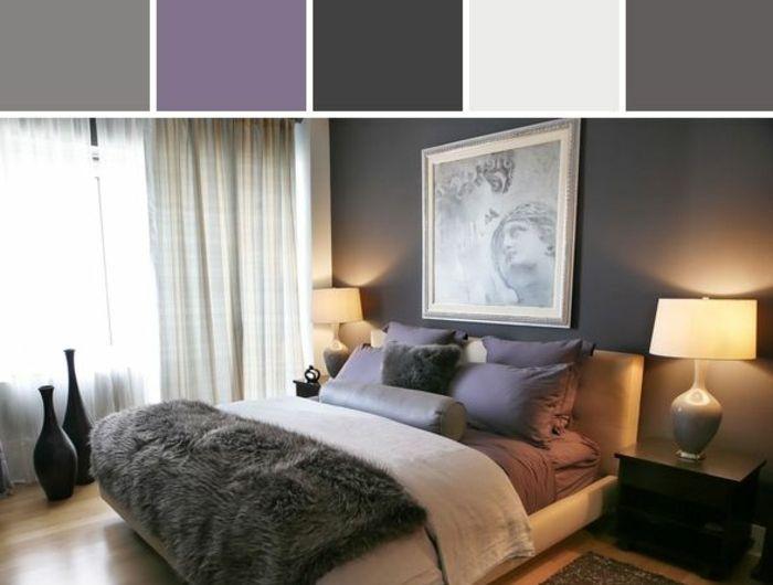 Les 25 meilleures idées de la catégorie Chambre violet gris sur ...
