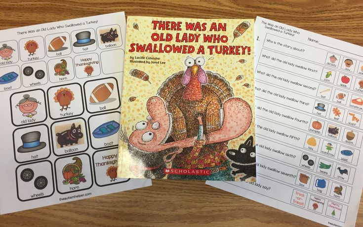 """""""There Was An Old Lady Who Swallowed a Turkey!"""" with Freebies - The Autism Helper"""