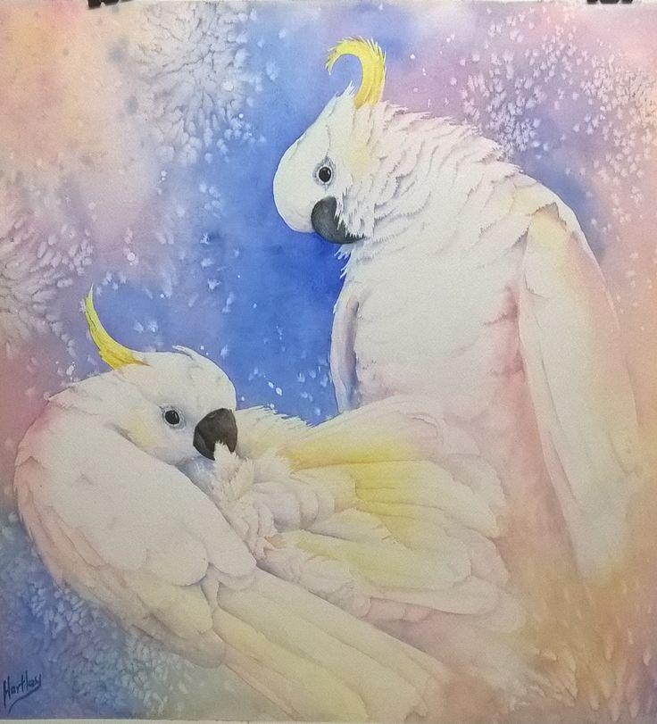 'Morning glow' watercolour, 60x40