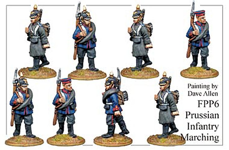 Franco Prussian Prussian - Prussian Infantry Marching - FPP006