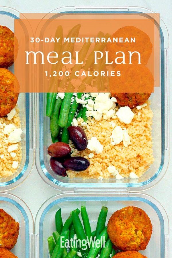 30 Day Mediterranean Diet Meal Plan 1 200 Calories Mediterranean Diet Meal Plan Healthy Meal Plans Mediterranean Diet Recipes