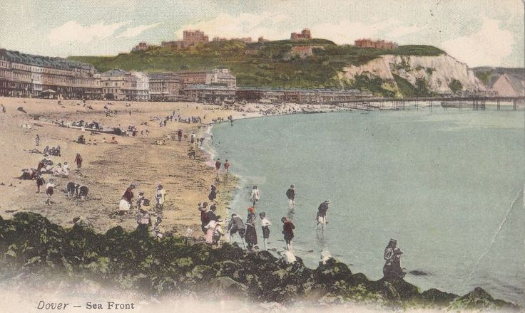 Vintage Postcard 1905~KENT~DOVER~ Sea Front~