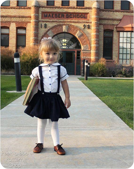 Molly Schoolgirl Skirt PDF Pattern & by PeekabooPatternShop, $7.95