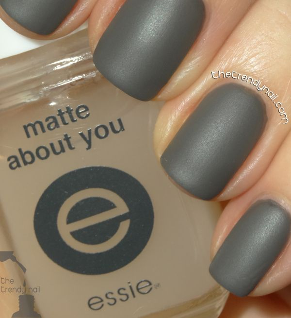 essie Power Clutch + Matte About You topcoat