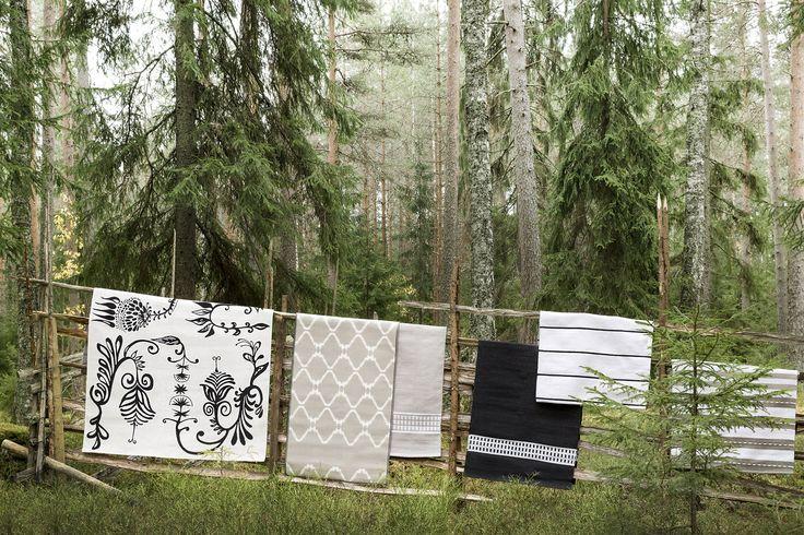 Aino, Alppila and Kauhava rugs by Matleena Issakainen, Keitele rug by Tanja Orsjoki, Hetta and Kirstu rugs by Riina Kuikka