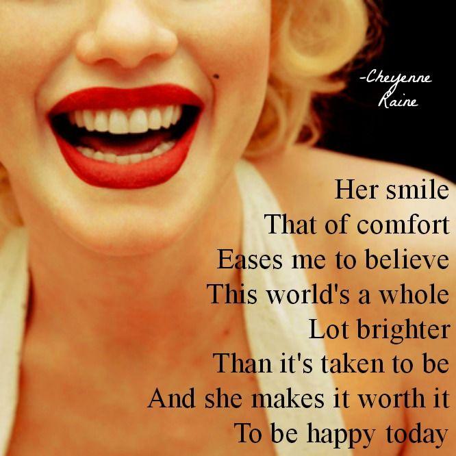 smile teeth red lips poem poetry comfort fun love joy
