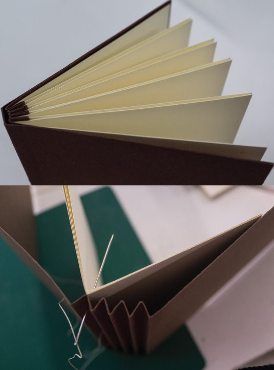 Concertina binding (another type of book binding)