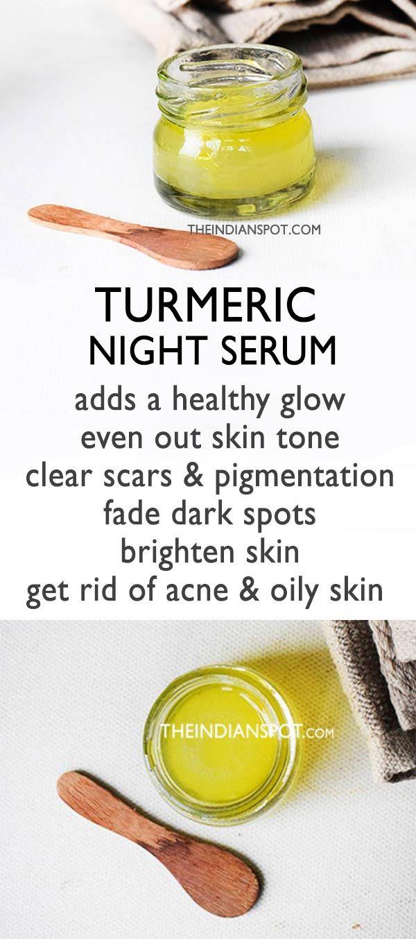 TURMERIC NIGHT SERUM TO WAKE UP WITH GLOWING CLEAR SKIN