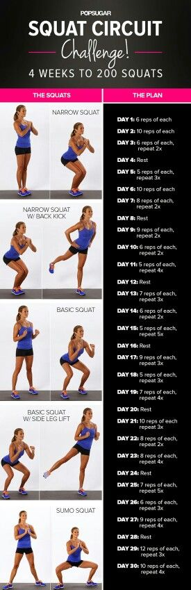 Squat Challenge You can see results within the first week!