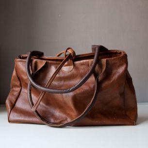 Skórzana torba typu bowler bag - Ręcznie robione skórzane torby