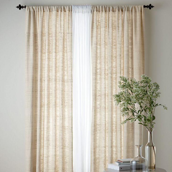 Silk Window Panels   The Company Store