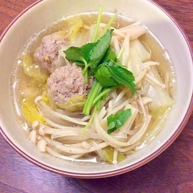 たっぷり作って、次の日うどんを入れて食べます。楽ちん楽ちん(*^_^*) - 76件のもぐもぐ - 肉団子と野菜 マロニーのスープ by ちょこりん