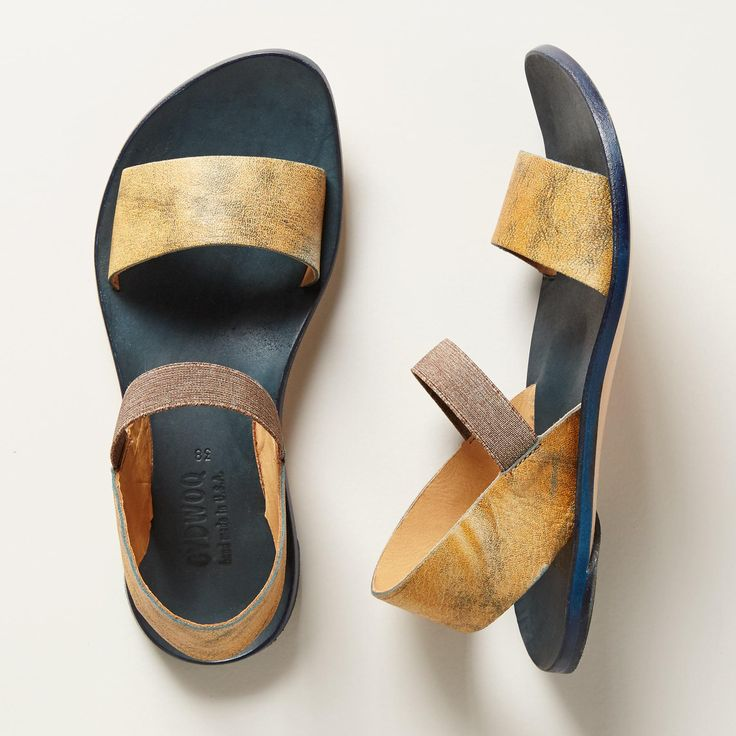 ARC SANDALS -- The epitome of handcrafted excellence, these burnished and distressed, leather sandals from CYDWOQ improve with age, creating a perfectly customized fit. USA. Euro whole sizes 36 to 41. 36 (US 6), 37 (US 7), 38 (US 8), 39 (US 9), 40 (US 9.5), 41 (US 10).