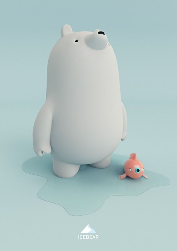 ICEBEAR by AARON MARTINEZ, via Behance