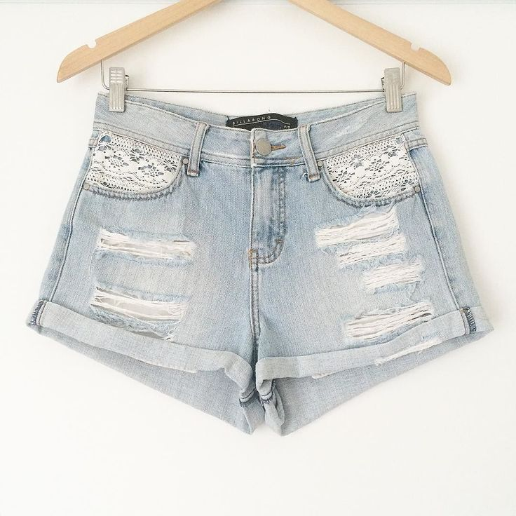 These Billabong beauties are the perfect summer short! Distressed denim?  Lace  High waist?  They're in excellent condition size 10 and 100% cotton! Snap them up today for only $30  post   #treasurehuntress #fashion #melbournefashion #ootd  #budget #bargain #studentlife #thrifty #preloved #forsale #findthelove #beach #summer #denim #lace #billabong by treasure.huntress