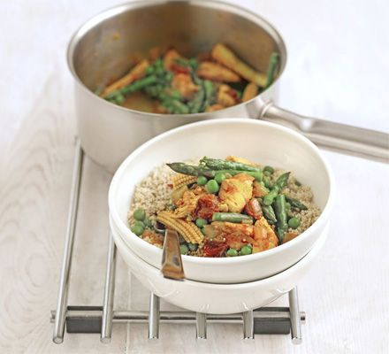 Chicken & vegetable stew with wholemeal couscous recipe