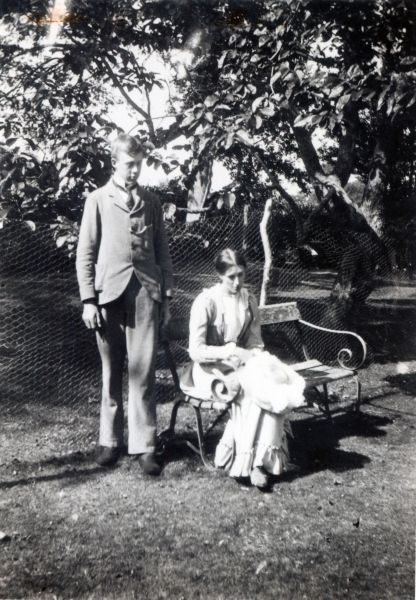 Virginia with her brother Adrian, 1900
