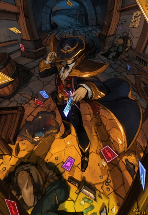 Twisted Fate - League of Legends - Art,