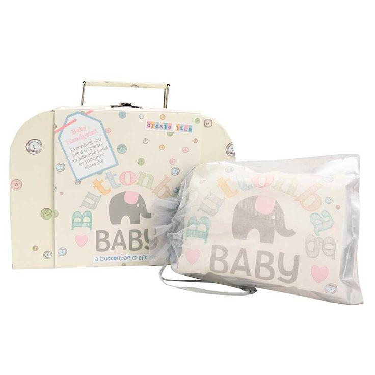 Button Bag Baby Handprint Kit | JoJo Maman Bebe