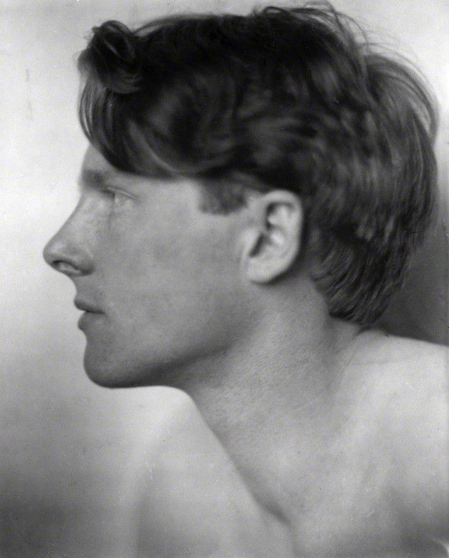 "Poet Rupert Brooke went skinny-dipping with Virginia Woolf. ""He was rather a dangerous friend,"" according to Leonard Woolf. Died far too young in WWI."