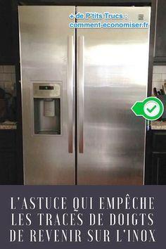 Vinaigre Blanc et huile d'olive, la meilleure méthode pour nettoyer les traces de doigts sur l'inox.
