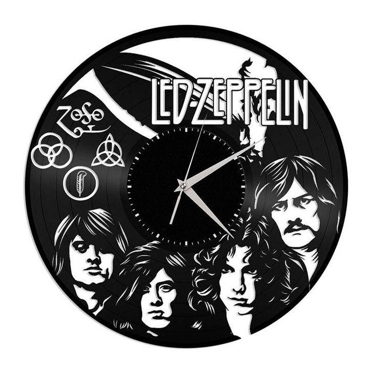 Led Zeppelin Vinyl Wall Clock Led zeppelin vinyl, Vinyl