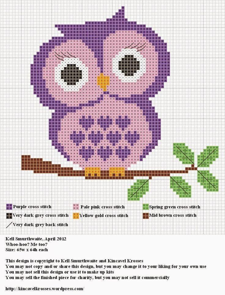 Cross stitch craze owls free patterns cross stitch for Cross stitch patterns free printable